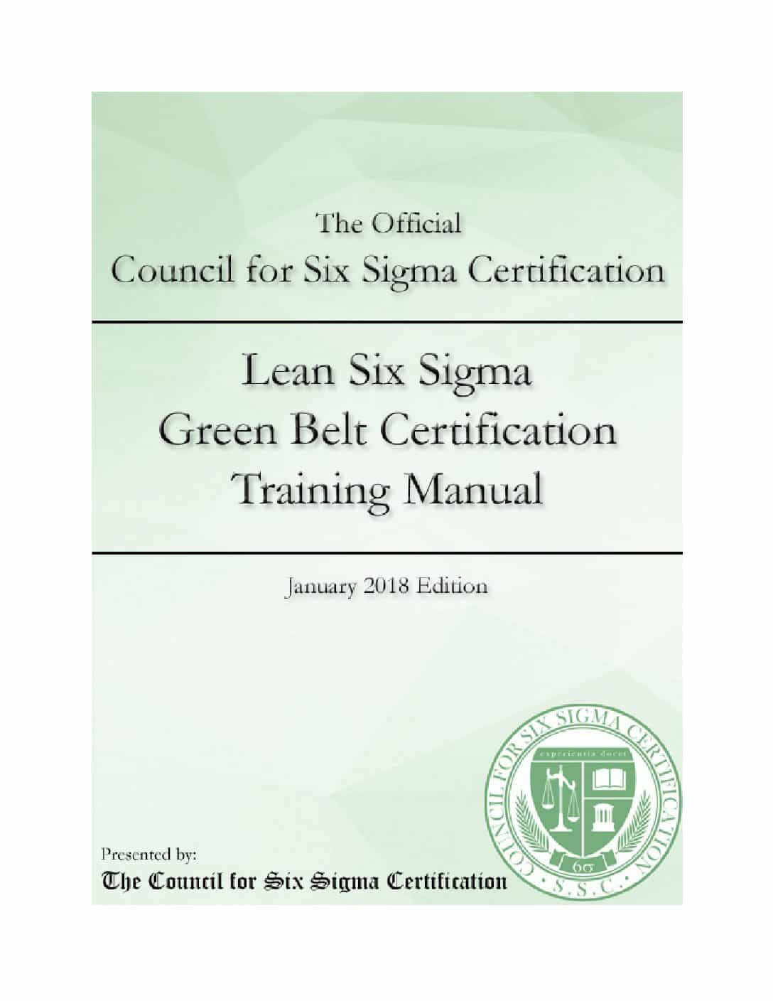 Lean Six Sigma Green Belt Certification Manual Wiseable