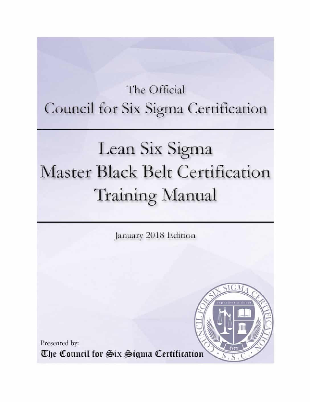 Lean Six Sigma Master Black Belt Certification Manual Wiseable