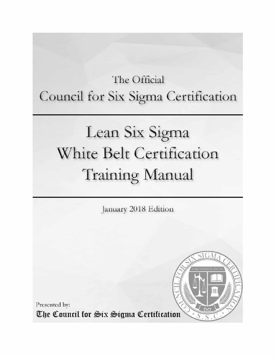 Lean Six Sigma White Belt Certification Manual Wiseable