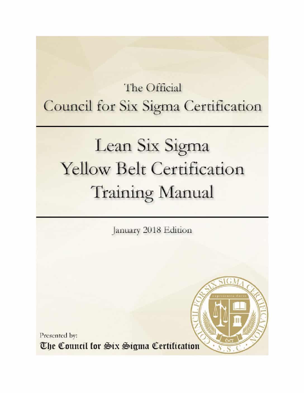 Lean Six Sigma Yellow Belt Certification Manual Wiseable